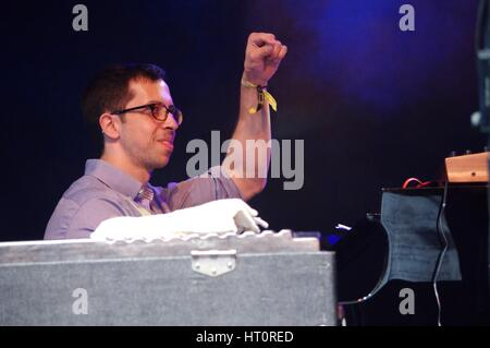 Sam Harris, Love Supreme Jazz Festival, Glynde Place, East Sussex, 2015. Artist: Brian O'Connor. - Stock Image
