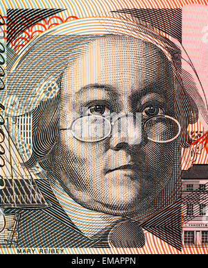 Mary Reibey (1777-1855) on 20 Dollars 2010 Banknote from Australia. - Stock Image