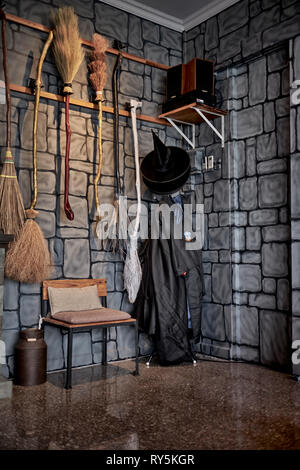 Harry Potter and Hogwarts theme restaurant and coffee bar- Sip'n Go, Pattaya Thailand - Stock Image