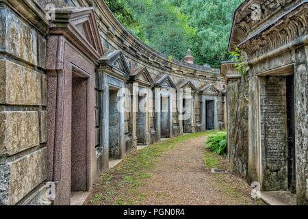 Highgate Cemetery,,Highgate,London,England,UK - Stock Image