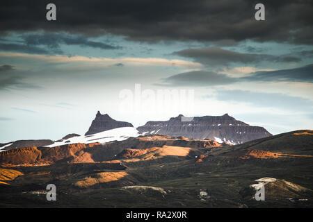 Nugssuaq Peninsula Mountains - Stock Image
