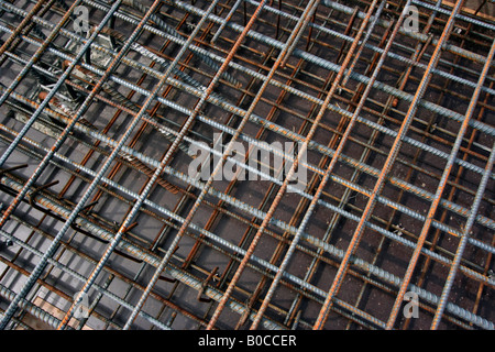 A maze of rebar steel! - Stock Image