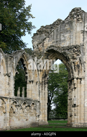 The Abbey of St Mary York Museum Gardens York - Stock Image