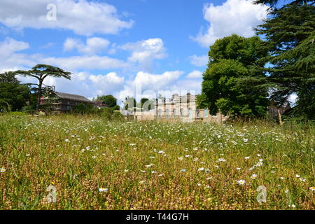 Compton Verney House, Compton Verney, Kineton, Warwickshire, England, UK. 18th century country mansion. Art Gallery with landscaped grounds. - Stock Image