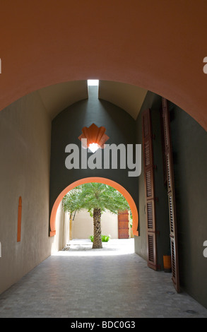 Interior corridors of Four Seasons Hotel Langkawi, Malaysia - Stock Image