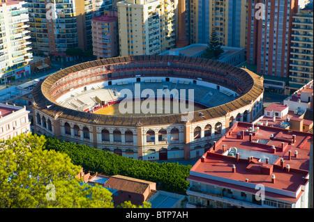 The Bull Ring, Plaza la Malagueta, Malaga, Andulucia, Spain - Stock Image