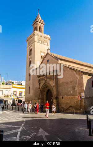 Church of St. Mark, Plaza San Marcos, Seville, Andalucia, Spain - Stock Image