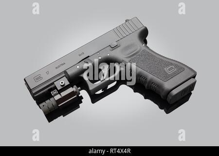 Glock 17 9mm (Gen 3) Pistol with Lasersight - Stock Image