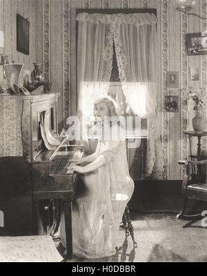 Piano practice - Stock Image