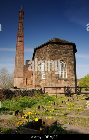 Middleton Top Winding House, above Cromford in the White Peak, Derbyshire - Stock Image