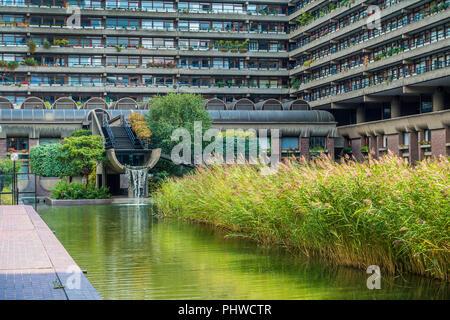 The Barbican,Centre,Garden,London,England,UK - Stock Image