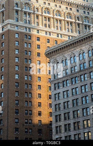 December 2017 Typical Architecture from Midtown in New York City, New York - Stock Image