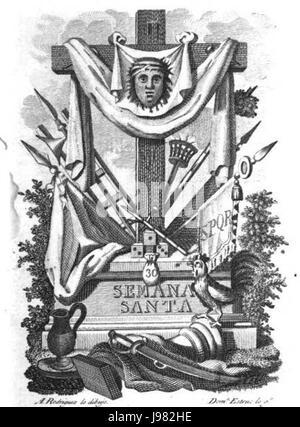 Oficio de la semana Santa (1820) pg 9 - Stock Image