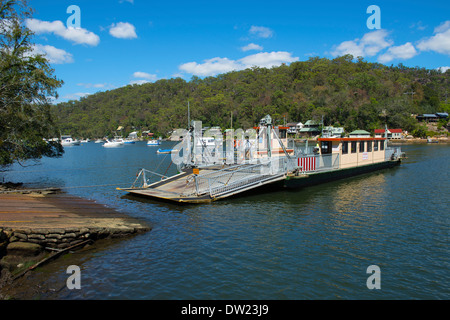 Berowra Waters Ferry on Berowra Creek  New South Wales Australia - Stock Image
