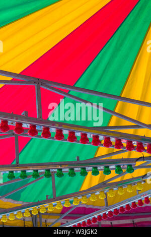 Fairground ride close up detail at Bournemouth, Dorset UK in July - Stock Image