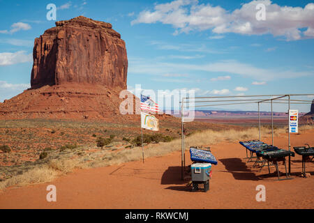 Artists point in Monument Valley. - Stock Image