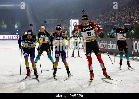 JOKA Biathlon World Team Challenge 2018 auf Schalke. - Stock Image