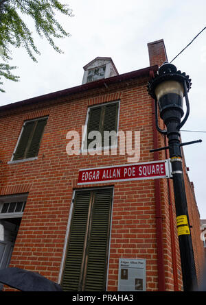 Maryland MD Baltimore Edgar Allan Poe House and Museum writer poet - Stock Image