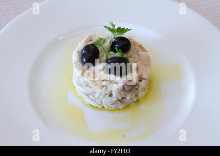 Fish and olive salad - Stock Image