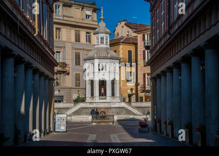 The small town of Acqui Terme in Piedmont, Italy known for its hot springs - Stock Image
