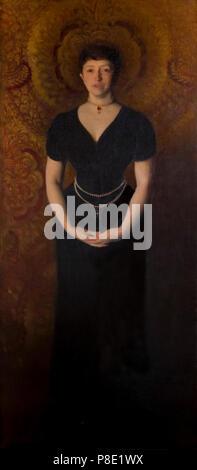 Portrait of Isabella Stewart Gardner, John Singer Sargent, 1888, Isabella Stewart Gardner Museum, Boston, Mass, Massachusetts, North America, US, USA - Stock Image