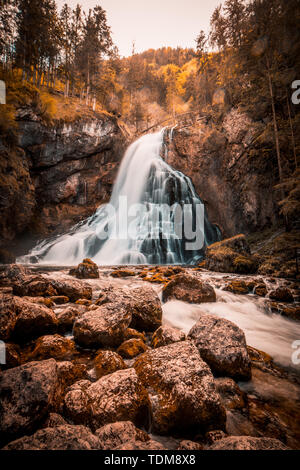 Golling waterfall is one of the most beautiful nature spectacles in Salzburg - Stock Image