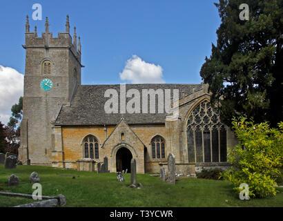 St James Church, Longborough, Gloucestershire, England - Stock Image