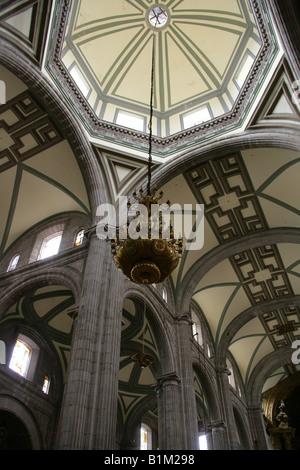 The Interior of the Metropolitan Cathedral, Zocalo Square, Plaza de la Constitucion, Mexico City, Mexico - Stock Image