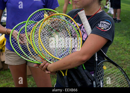 Summer tennis camp - Stock Image