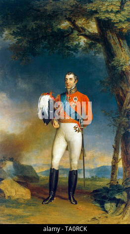 Portrait painting of the Duke of Wellington by George Dawe, 1829 - Stock Image