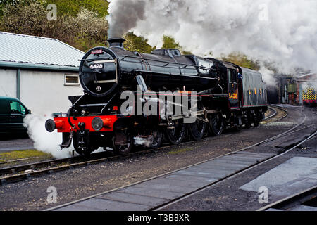 Black 5 No 5428 at Grosmont North Yorkshire Moors Railway, England 2nd April 2019 - Stock Image