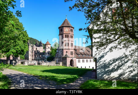 Hirsau, a health resort with a famous monastery. In unspoilt nature, in one of the most appealing spots in Nagold valley you can take a deep breath. - Stock Image