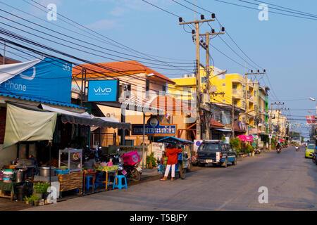 Chomsin Road, Hua Hin, Thailand - Stock Image