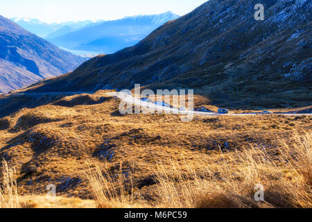 On the road to Queenstown - Stock Image