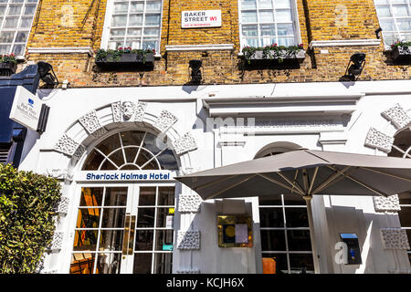 Sherlock Holmes Hotel Baker Street London, Park Plaza Sherlock Holmes Hotel, Baker Street, Marylebone, London, UK, - Stock Image
