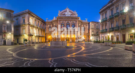 Theater Massimo Bellini, Catania, Sicily, Italy - Stock Image
