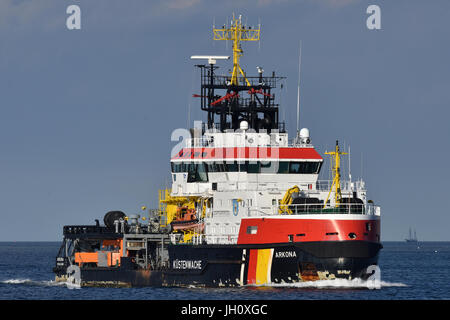 Pollution Control Vessel Arkona - Stock Image