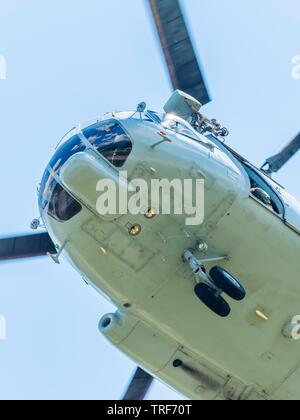 Croatian Air Force Mi-8 MTV-1 helicopter against sky - Stock Image