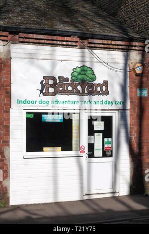 The Barkyard dog care centre, Sowerby Bridge, West Yorkshire - Stock Image