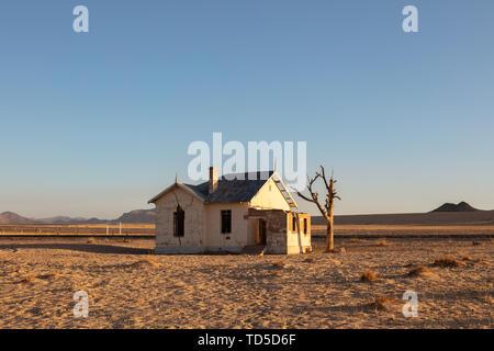 Abandoned Train Station Garub in the Luderitz/Spergbeit Diamond Area, Namibia, Africa - Stock Image