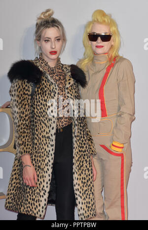 London, UK. 27th September 2018. Pam Hogg attend A Star Is Born UK Premiere at Vue Cinemas, Leicester Square, London, UK 27 September 2018. Credit: Picture Capital/Alamy Live News - Stock Image