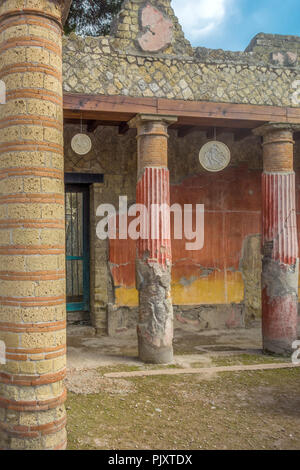 House of the Relief of Telephus,Herculaneum Campania, Italy - Stock Image