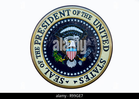 USA The Seal of the President of the United States of America Presidential emblem - Stock Image
