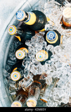 drinks on ice - Stock Image