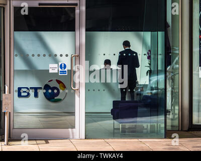 The BT Plc Head Office in the BT Centre,  81 Newgate Street in the City of London - Stock Image