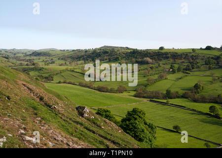 Upper Dovedale in Derbyshire Peak District England UK - Stock Image