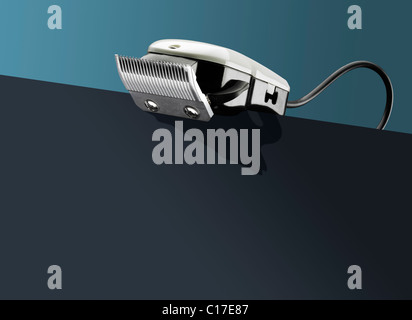 Hair clippers on - conceptual - Stock Image