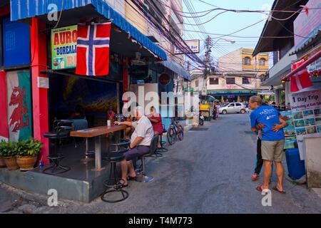 Selakam street, Hua Hin, Thailand - Stock Image