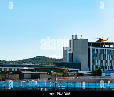 Gosford, New South Wales, Australia - September 9. 2018: Construction and building progress update 18. on Gosford Hospital redevelopment. - Stock Image
