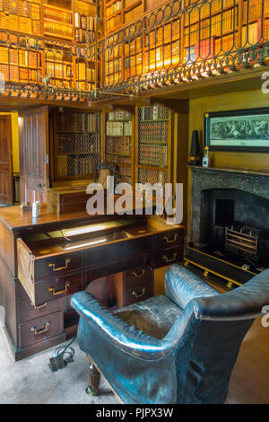 Sir Walter Scott's study in his home Abbotsford Melrose Scotland - Stock Image